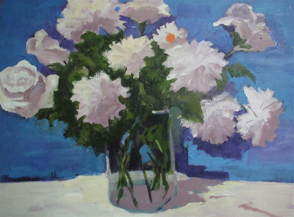 """Shades of white"" original fine art by Linda Carney"
