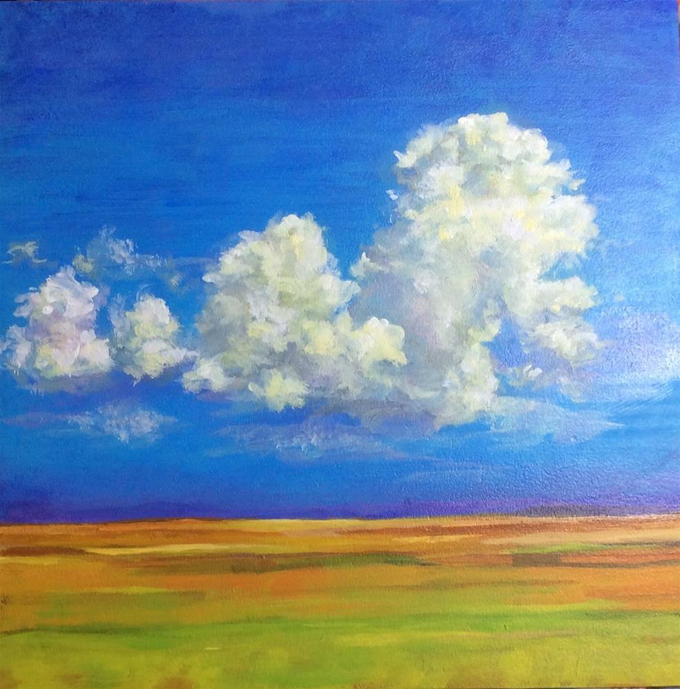 """Prairie Clouds"" original fine art by wendy black"