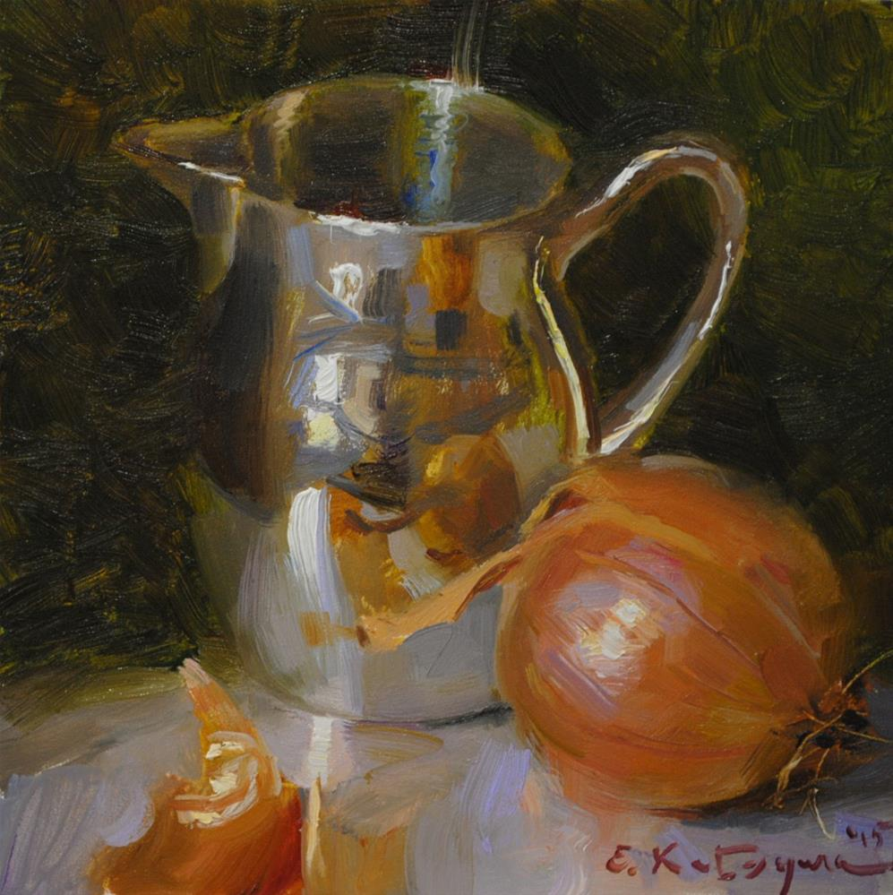 """Silver and Onion"" original fine art by Elena Katsyura"