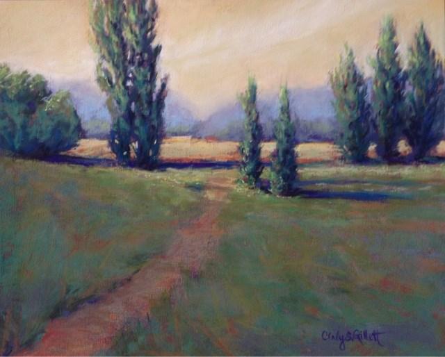 """""""Poplar Place"""" original fine art by Cindy Gillett"""