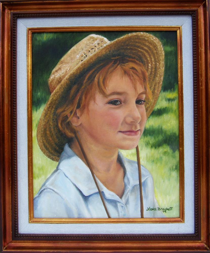 """Girl in Straw Hat"" original fine art by Lori Brackett"