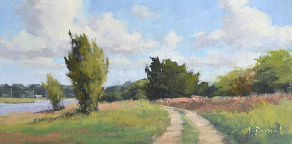 """River Road - Georgia Coast"" original fine art by Laurel Daniel"