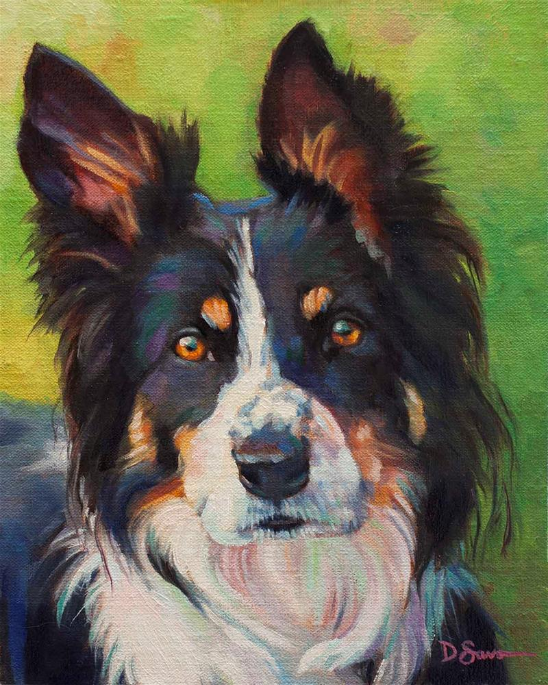 """Keen"" original fine art by Deborah Savo"