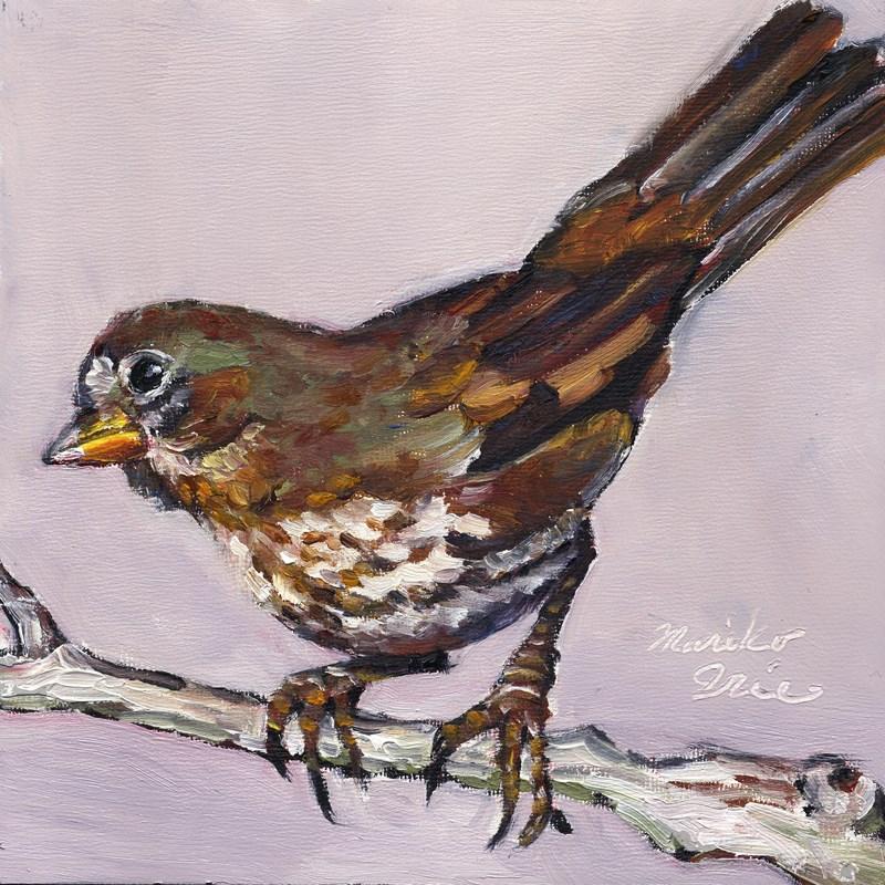 """Fox Sparrow"" original fine art by Mariko Irie"