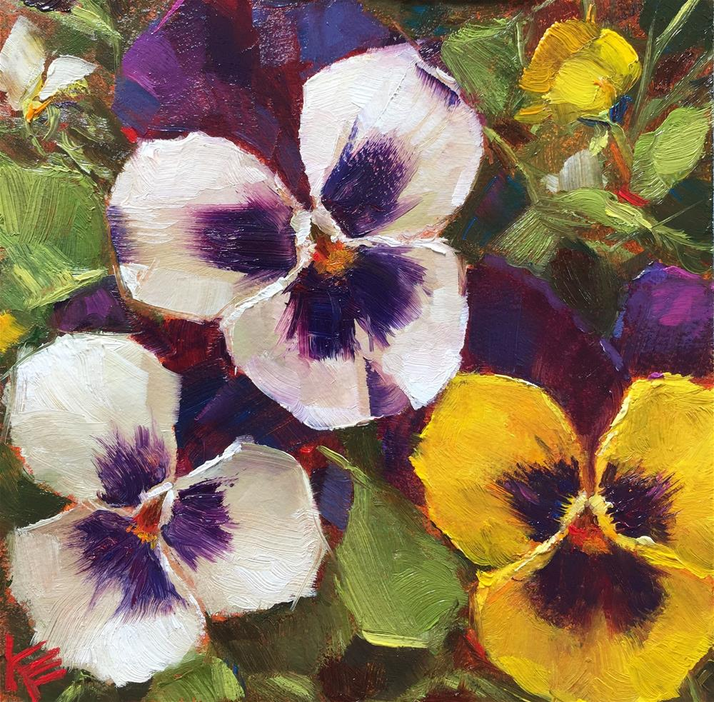 """Garden Party"" original fine art by Krista Eaton"