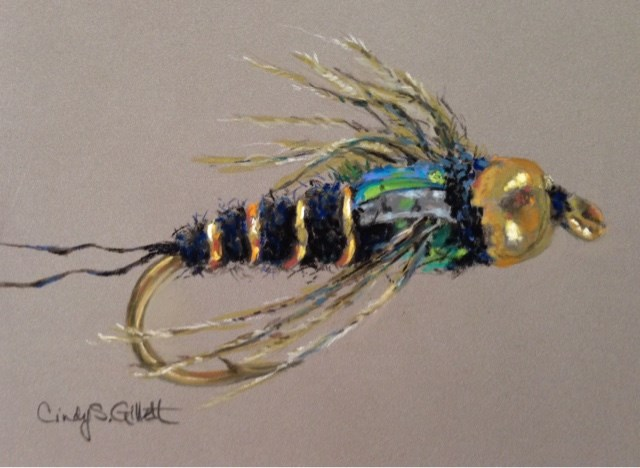 """Fly 17 - Western Green Drake Nymph"" original fine art by Cindy Gillett"