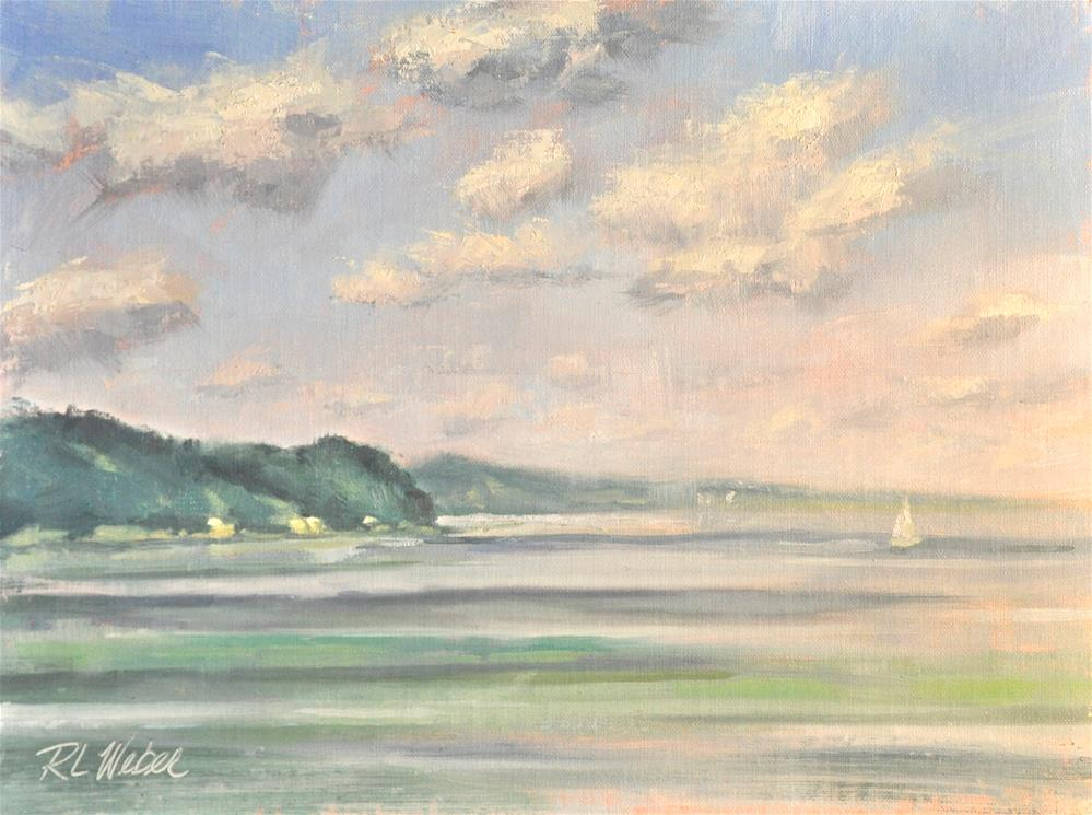 """Atwater View Over Lake Michigan"" original fine art by Rl Weber"