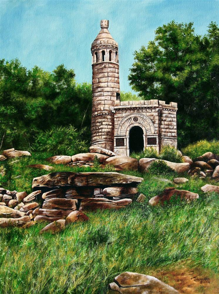 """Little Round Top Castle - 44th and 12th NY"" original fine art by Aaron Grabiak"