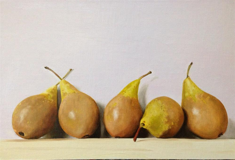 """A Five Pear Conference"" original fine art by James Coates"