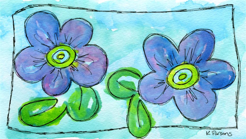 """Puffy Flowers"" original fine art by Kali Parsons"
