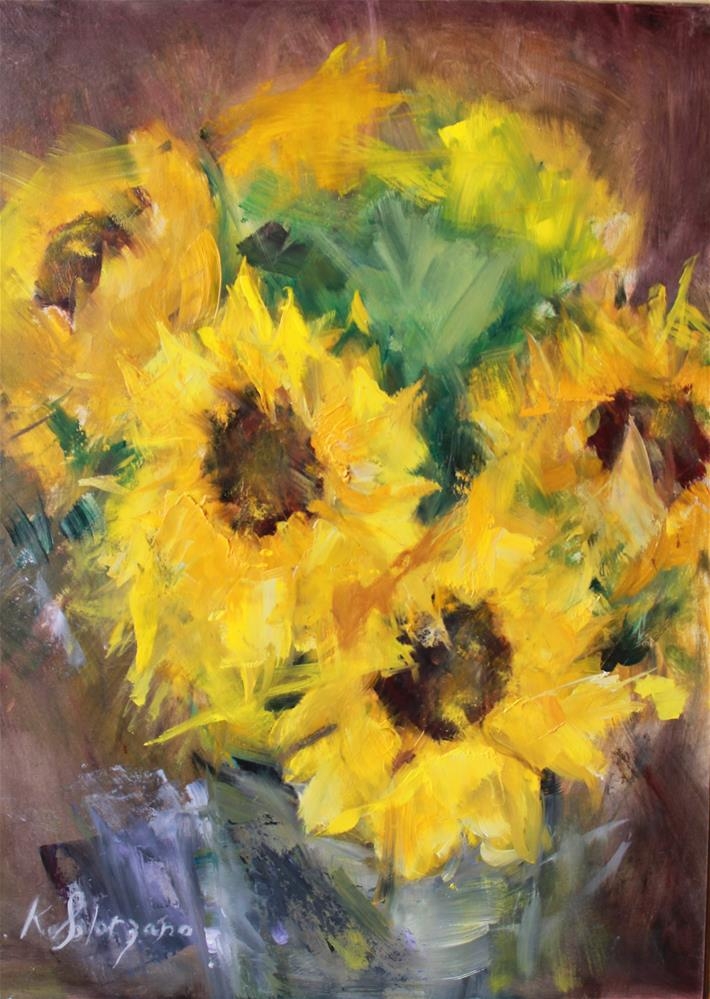 """Sunflower Dazzle"" original fine art by Karen Solorzano"