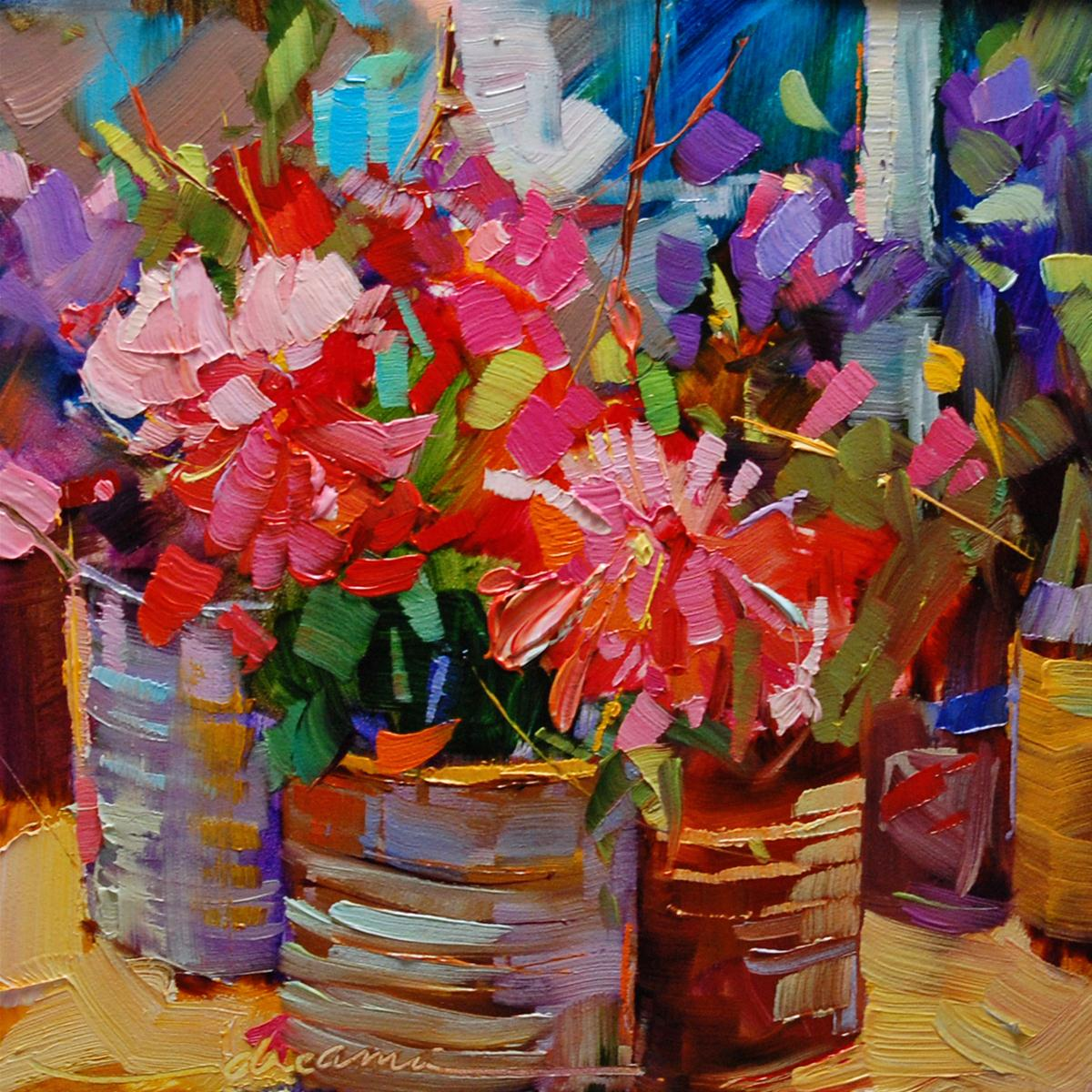 """""""Home Grown Color"""" original fine art by Dreama Tolle Perry"""