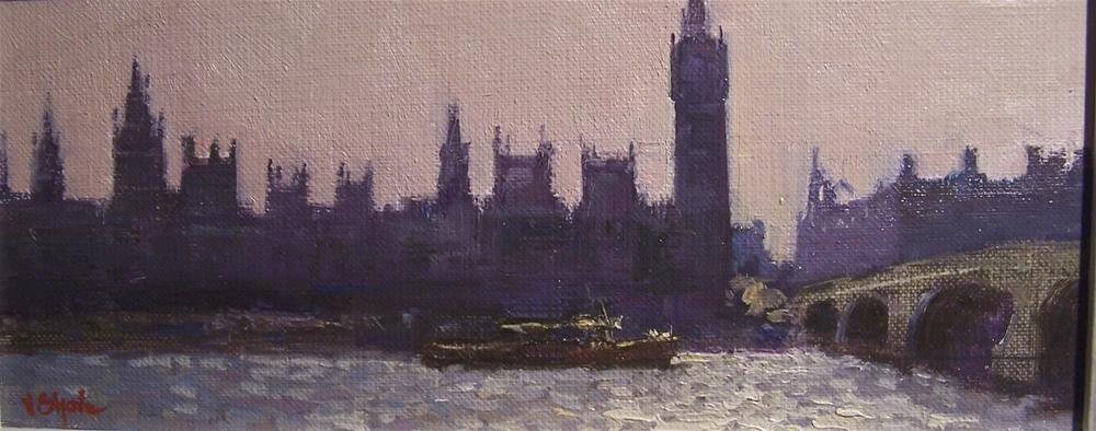 """""""Westminster From the River"""" original fine art by John Shave"""