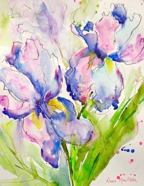"""""""two for you"""" original fine art by Nora MacPhail"""