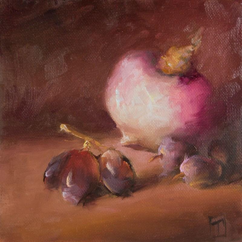 """Turnip Study 3"" original fine art by Lori Twiggs"