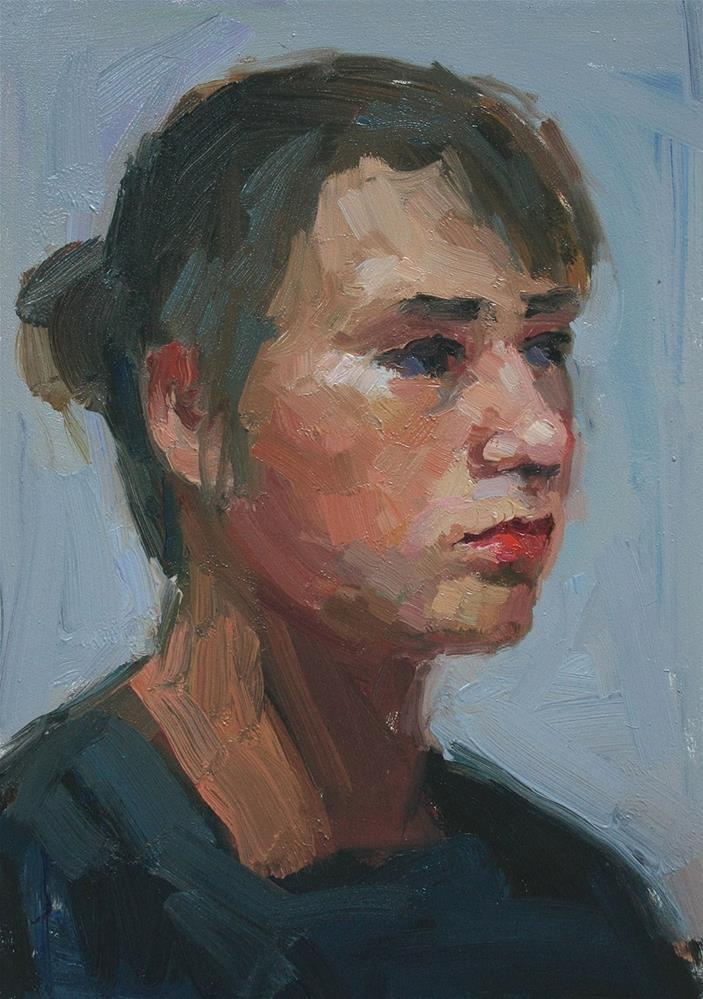 """Portrait Study #1"" original fine art by Kathryn Townsend"