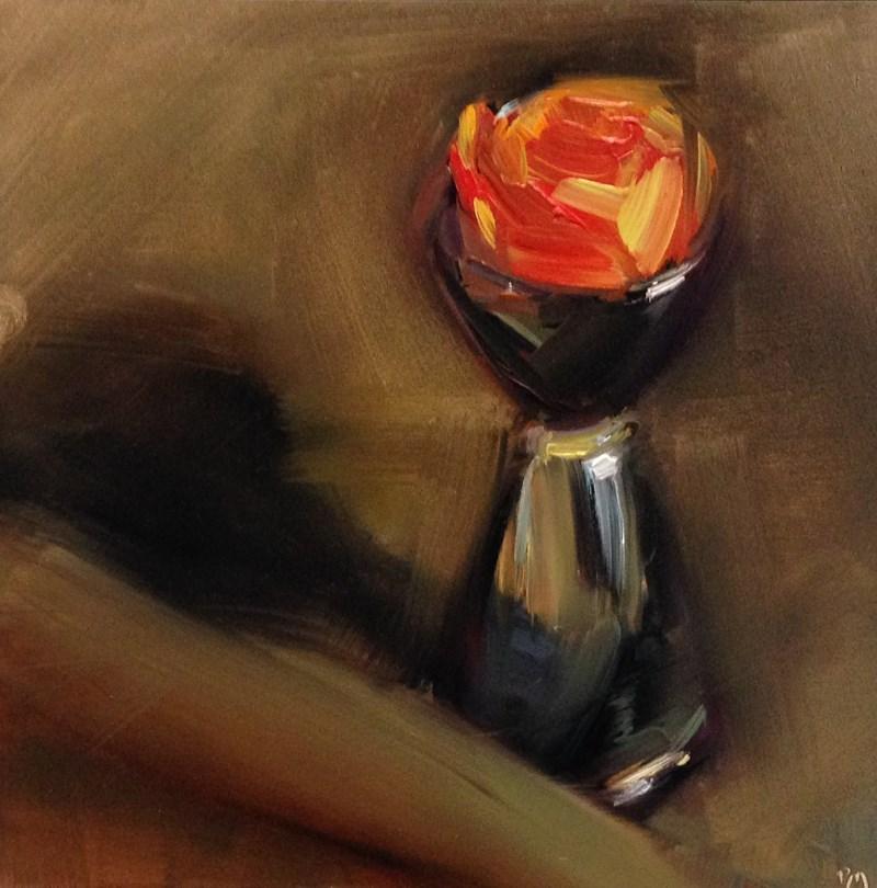 """""""Rosebud Jigger"""" original fine art by Patti McNutt"""