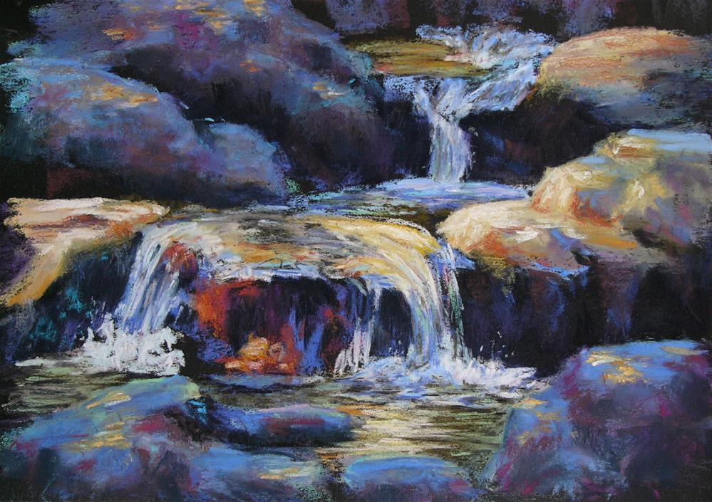 """Sunlit Stream"" original fine art by Linee Baird"