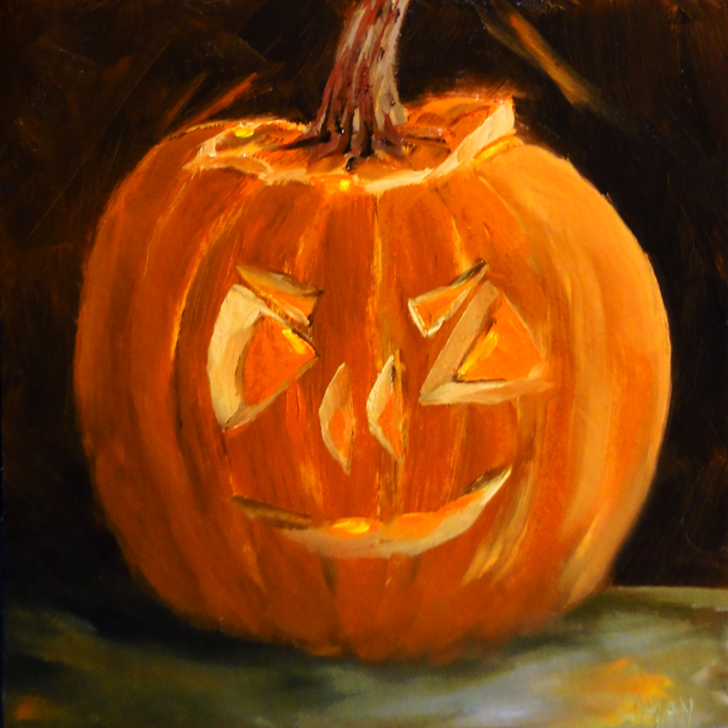 """Jack'O'Lantern"" original fine art by Dalan Wells"