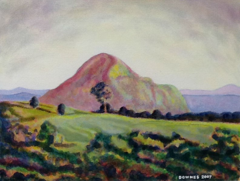 """273 GLASSHOUSE MOUNTAINS 10"" original fine art by Trevor Downes"
