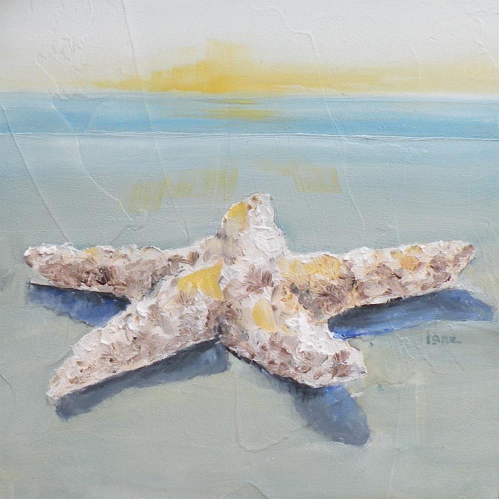 """BEACH STAR a 4x4 mini for my ETSY shop © SAUNDRA LANE GALLOWAY"" original fine art by Saundra Lane Galloway"