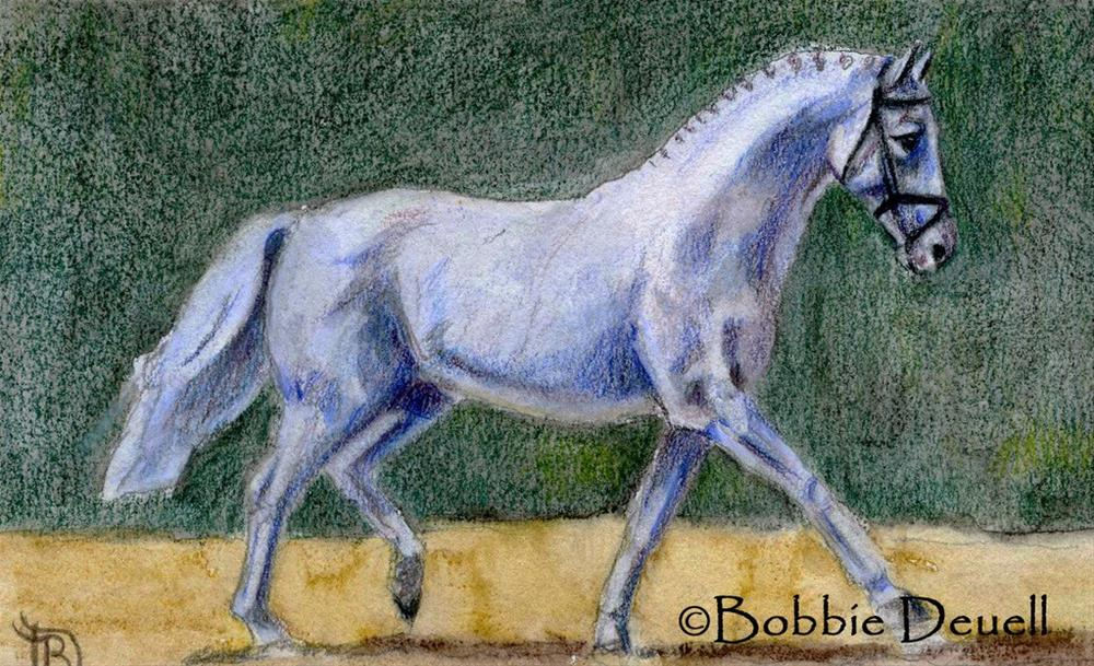 """#36 Dressage"" original fine art by Bobbie Deuell"