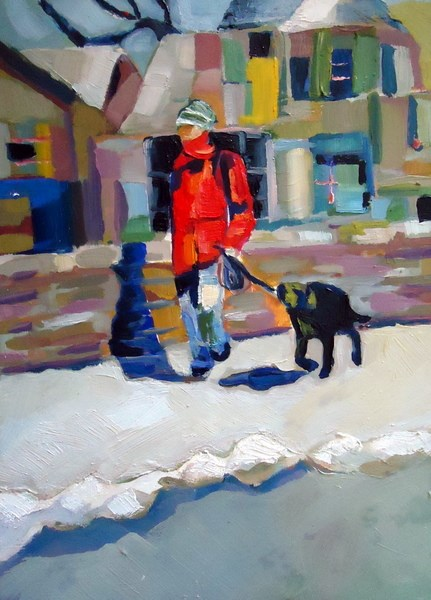 """On a Walk"" original fine art by Laurie Mueller"