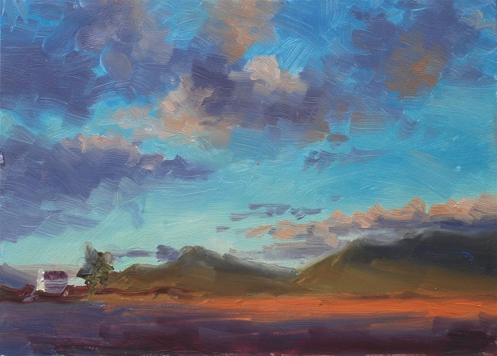 """Winter Sunset"" original fine art by Susan McManamen"