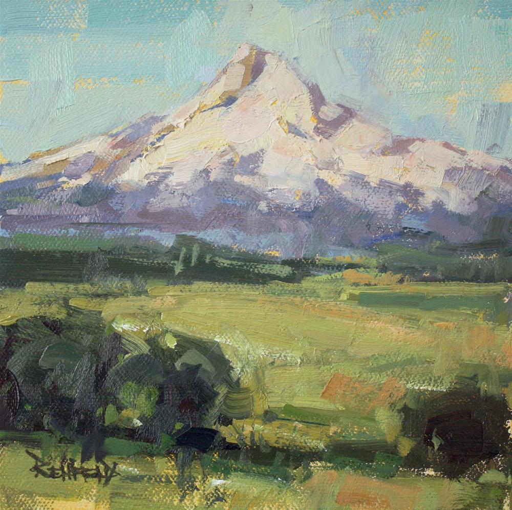 """Mt Hood One"" original fine art by Cathleen Rehfeld"