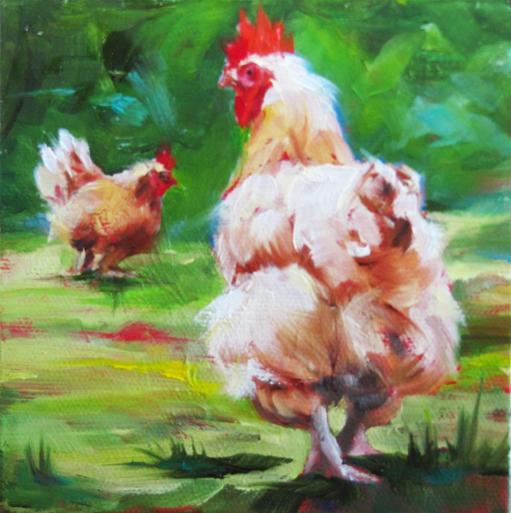 """Buff Cochin II"" original fine art by Mary  Van Deman"