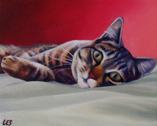 """On The Bed"" original fine art by ~ces~ Christine E. S. Code"