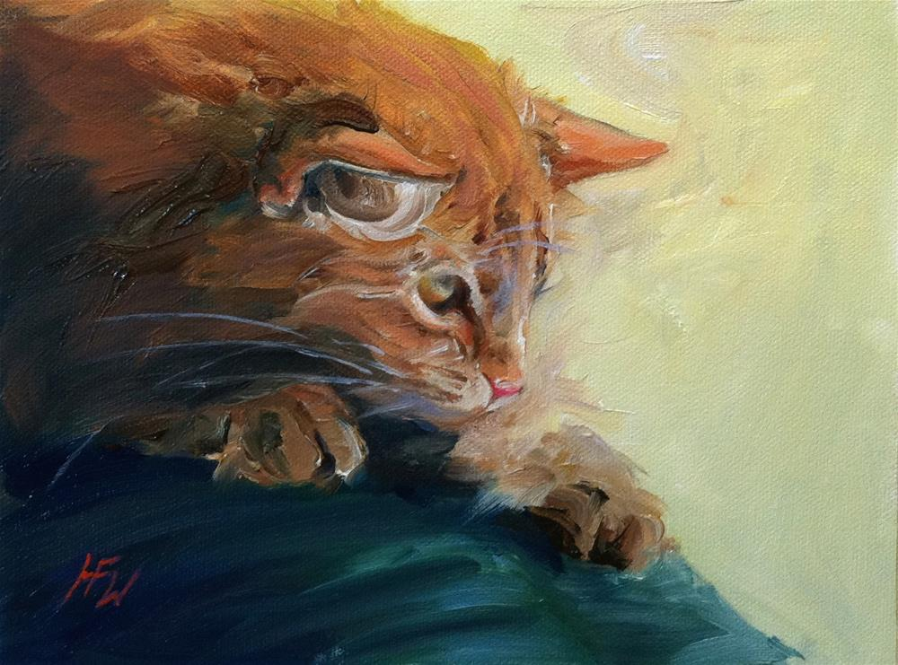 """Ginger Kitty"" original fine art by H.F. Wallen"