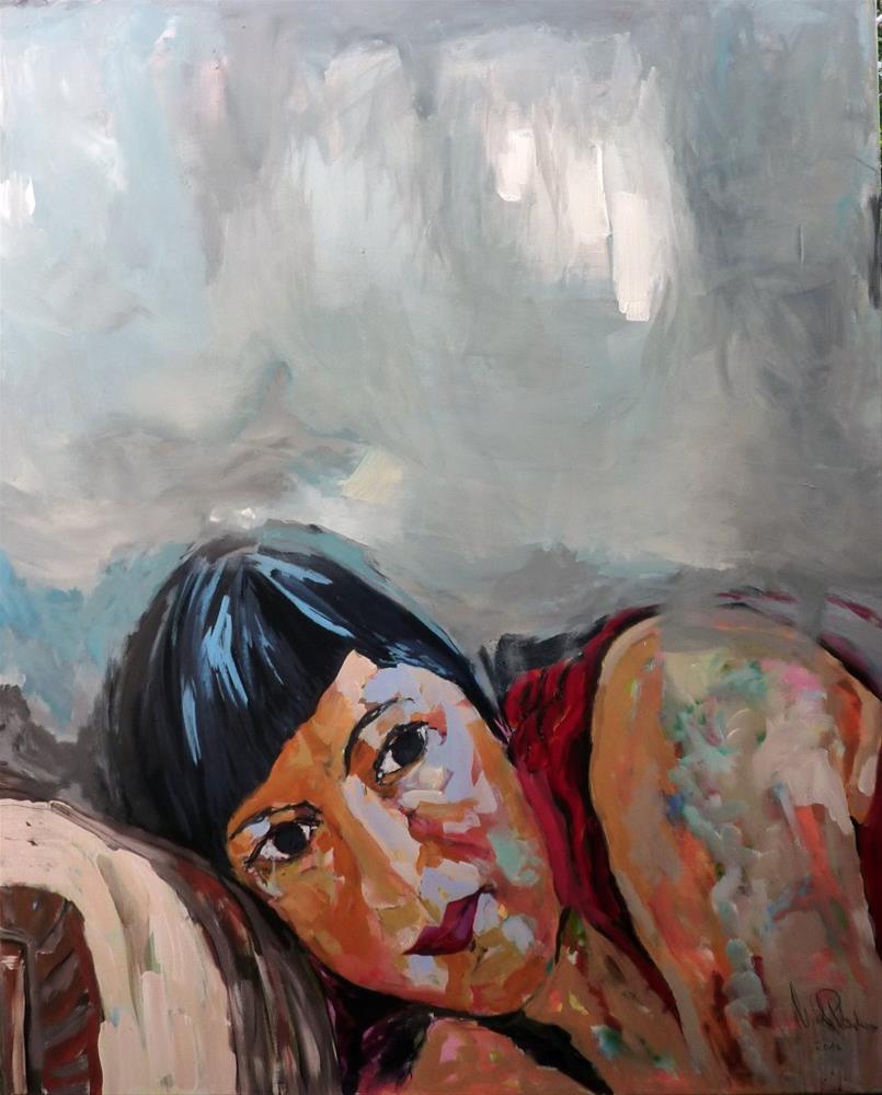 """Entspannen / relax"" original fine art by Mila Plaickner"
