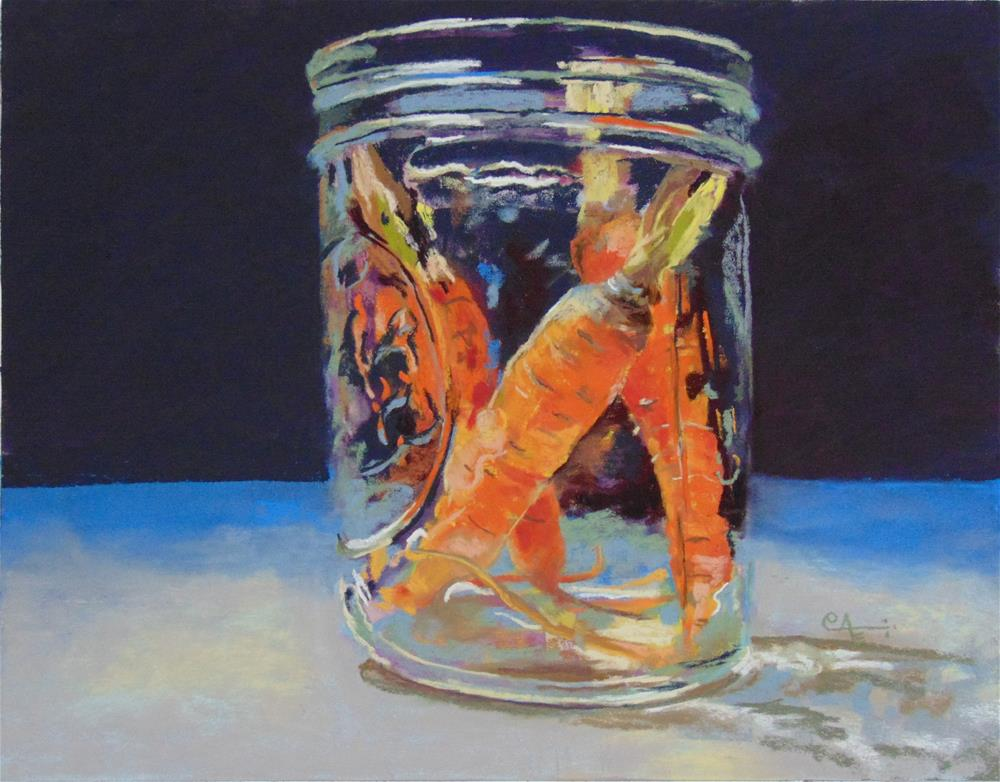 """Baby Carrots"" original fine art by Catherine Kauffman"