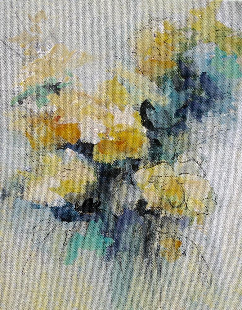 """Floral 6"" original fine art by Karen Hale"