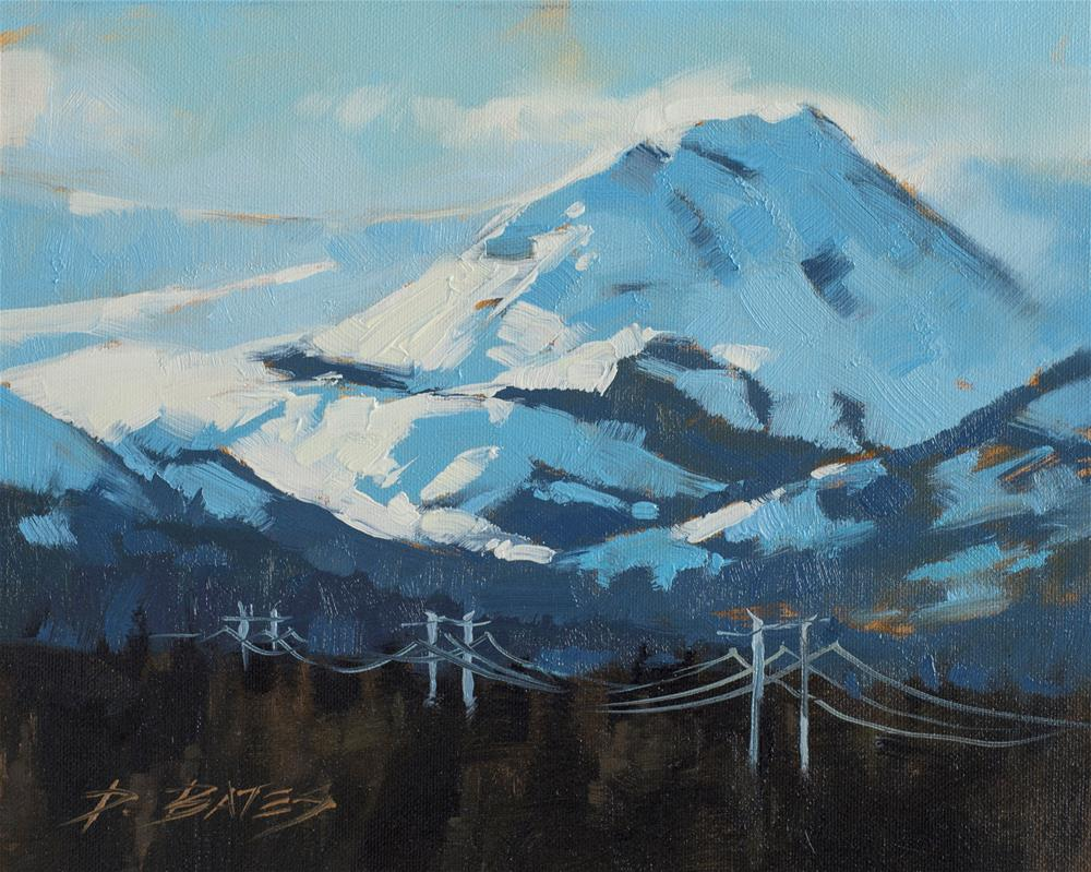 """Mt Sheridan Park County, CO"" original fine art by David Bates"