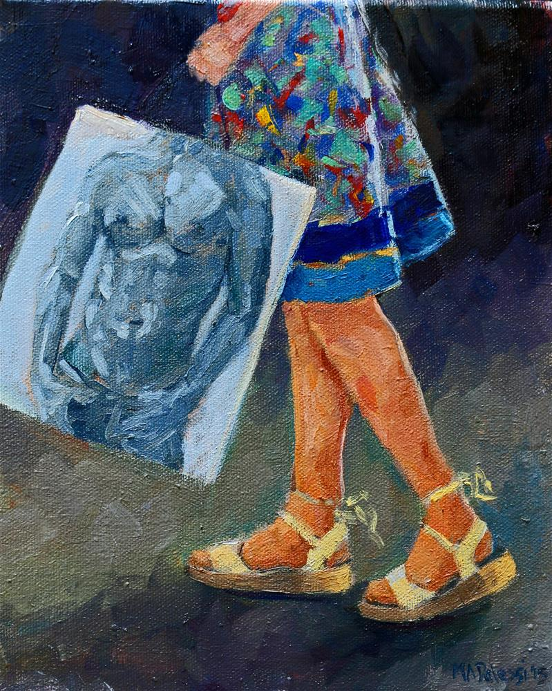 """Gonna keep the bag"" original fine art by Miranda Dalessi"