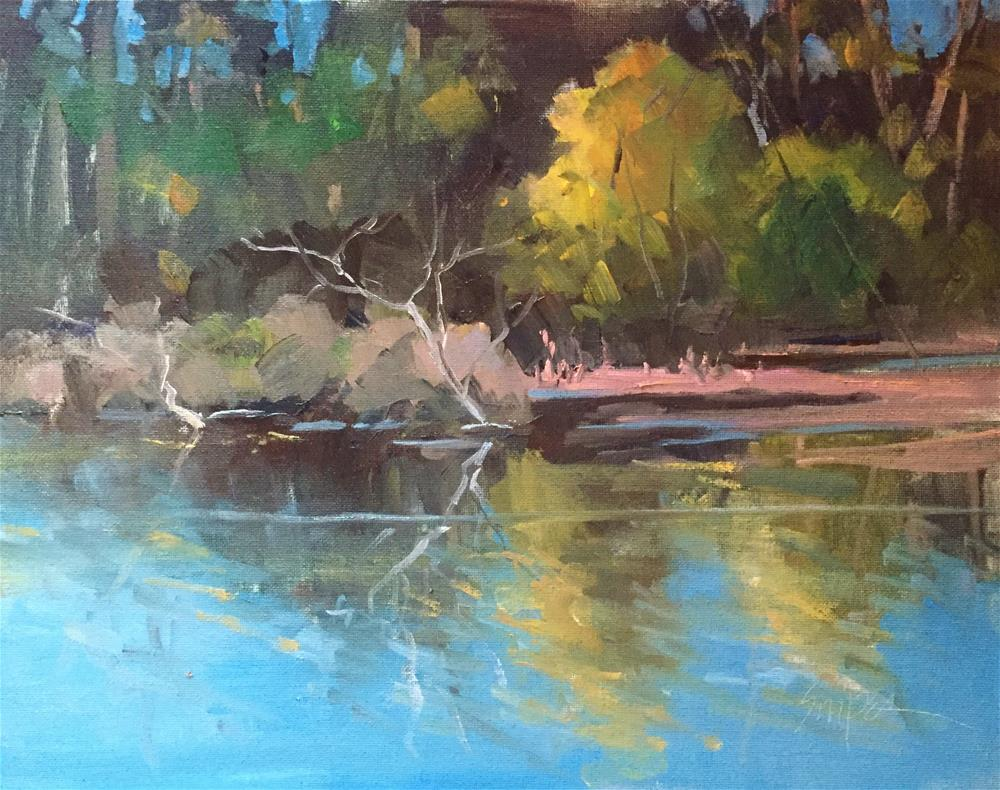 """A Quiet Morning by the Water"" original fine art by Connie Snipes"