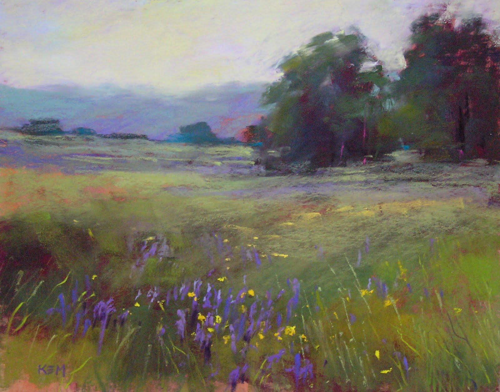 """Magical Meadows 11x14 pastel"" original fine art by Karen Margulis"