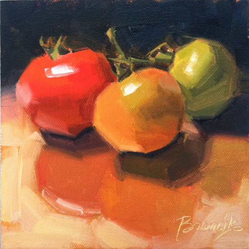 """Vine Ripened"" original fine art by Candace Brancik"