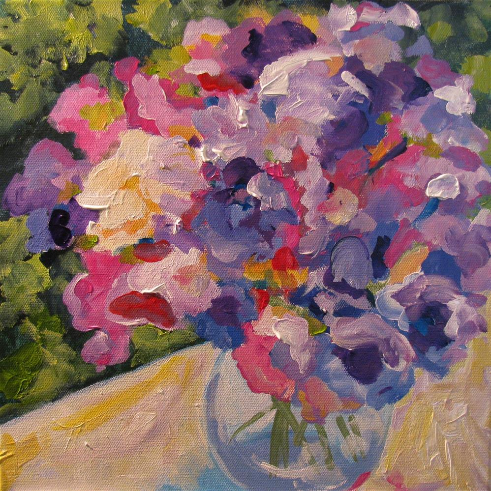 """Sweetpeas"" original fine art by Susan Elizabeth Jones"