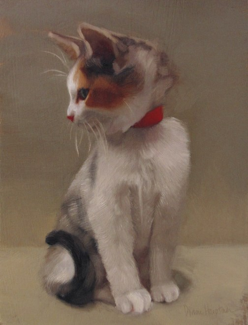 """Forever Young, a painting of a kitten"" original fine art by Diane Hoeptner"