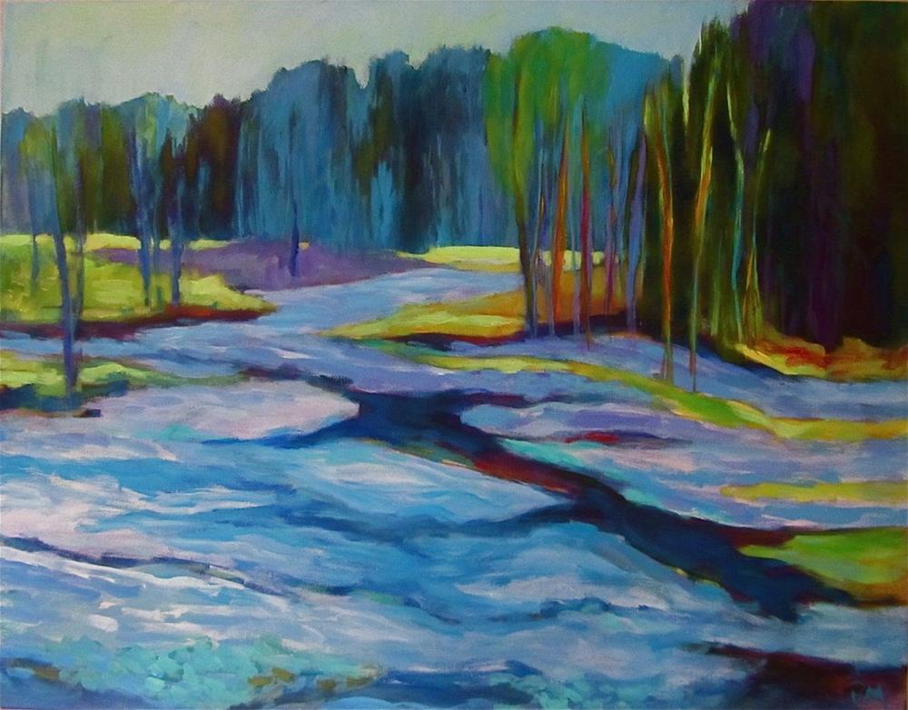 """Spring Awakening"" original fine art by Patricia MacDonald"