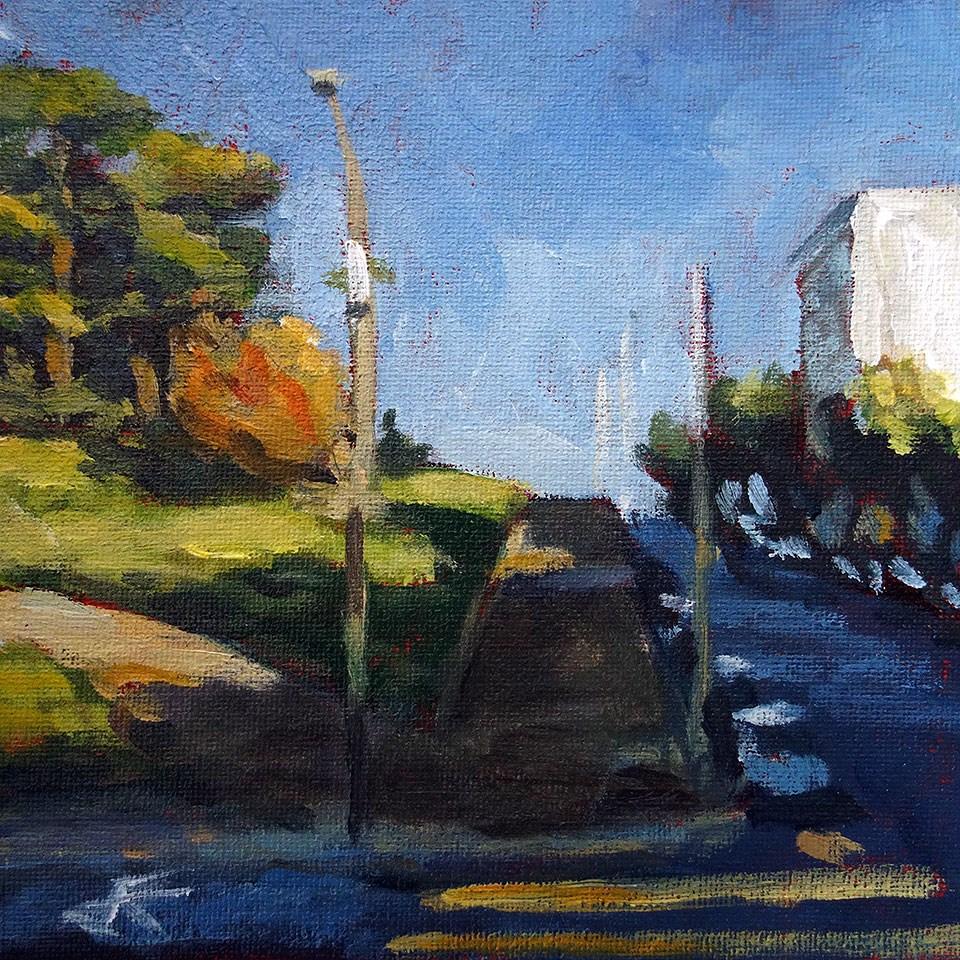 """Alamo Shade"" original fine art by J. Farnsworth"