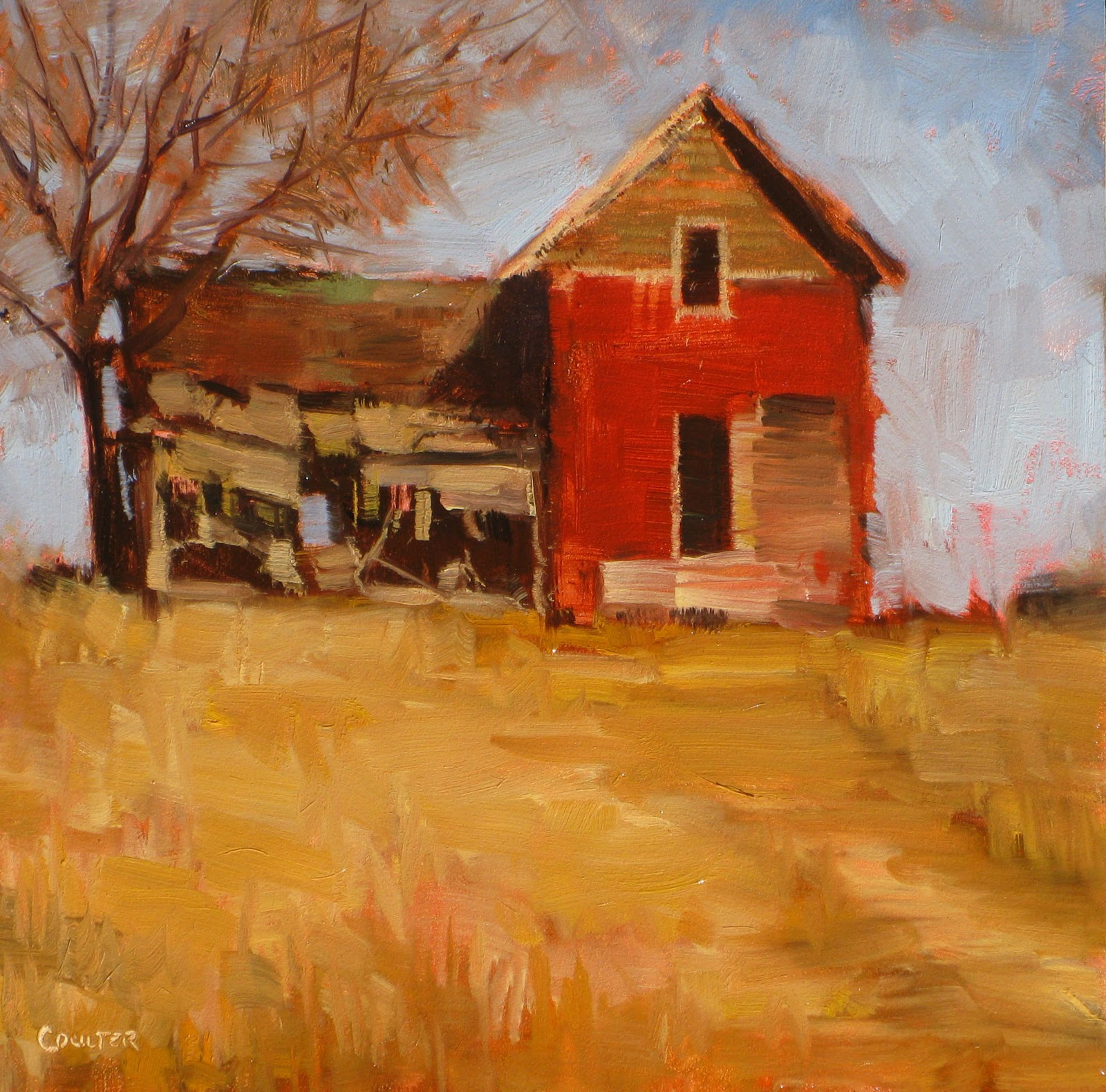 """ABANDONED FARMHOUSE"" original fine art by James Coulter"