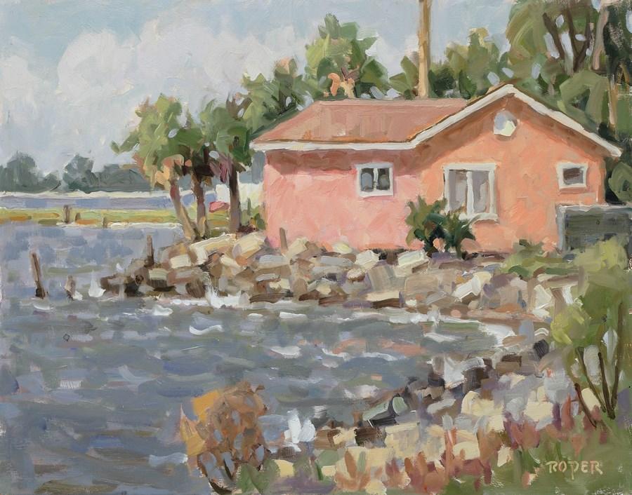 """DAY 6: Edge Of The Forgotten Coast"" original fine art by Stuart Roper"