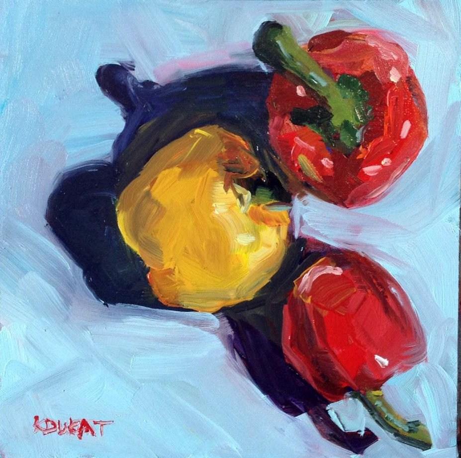 """""""Peppers"""" original fine art by Kristen Dukat"""