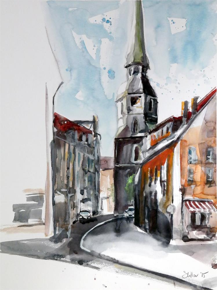 """""""1471 Church of the Cross"""" original fine art by Dietmar Stiller"""