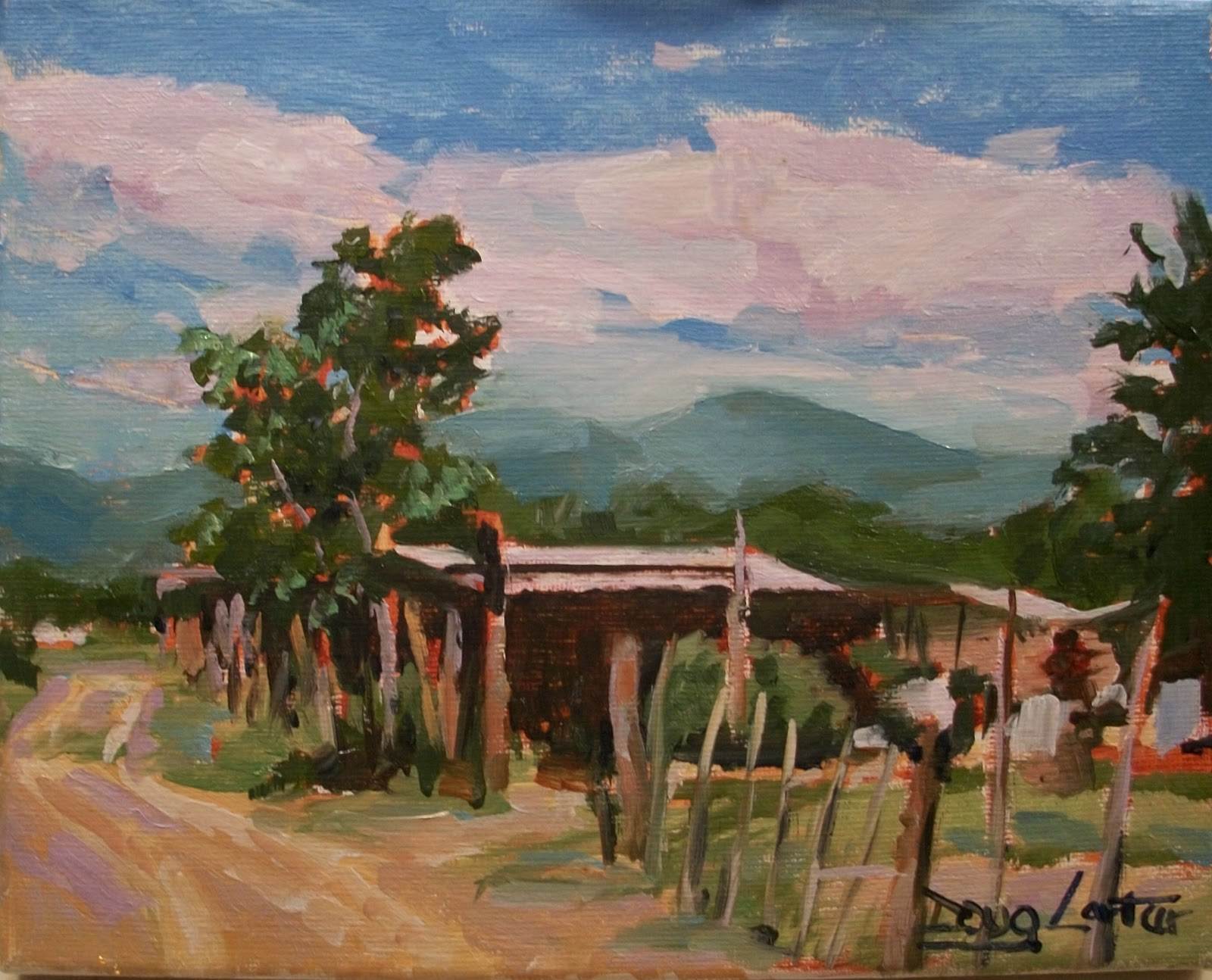 """Mexico Way"" original fine art by Doug Carter"