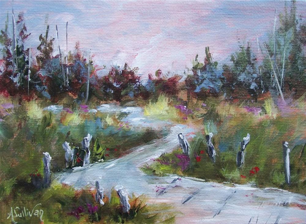 """Mountain Reflections"" original fine art by Angela Sullivan"